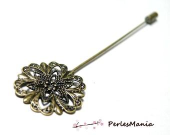 1 color DIY BRONZE fibula PIN or hat pin