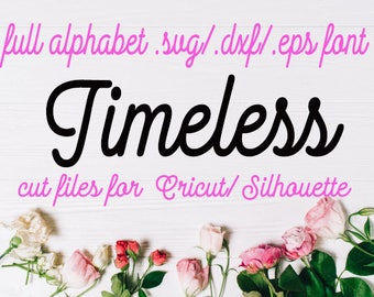 svg font Cricut Silhouette Digital Full Alphabet SVG DXF EPS Fonts Instant Download Script  Vintage font svg font