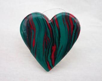 Multicolored  ring polymer clay
