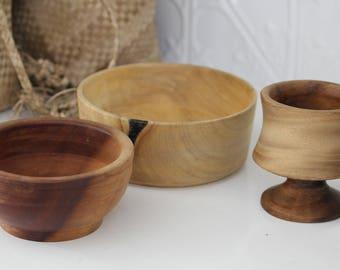 3 x Natural Wood pieces