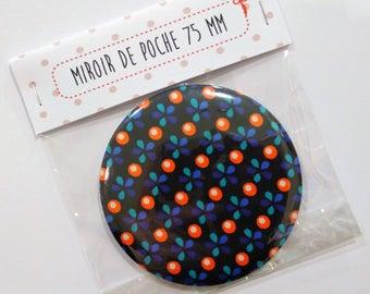 Petit Pan Sioux black 75 mm Pocket mirror