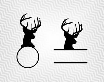 Buck Head Banner Svg, Deer Svg, Cutout, Vector art, Cricut, Silhouette Cameo, die cut, instant download, Digital Cut, Print Files, Svg Files