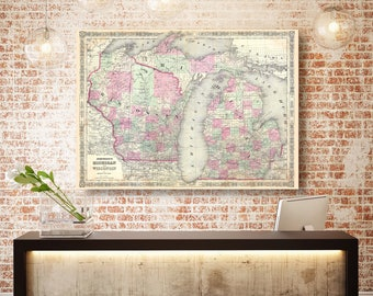 Map Of Wisconsin Etsy - Wisconsin map