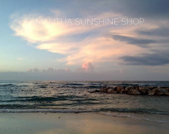 Original Photography Fine Art Photography Montego Bay Jamaica Sunset Photo Beach Photo Landscape Travel Photo Housewarming Birthday Gift