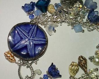 Chloe~Charm Bracelet~Surfing Bracelet~Starfish Bracelet~Beach Boho~Gift For Her~OOAK~Australian Seller~Shell Bracelet~Inspirational~Mermaid