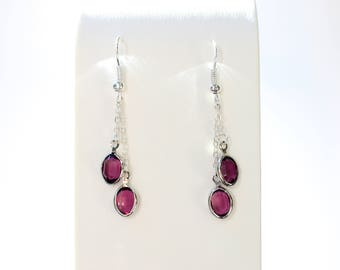 Crystal Earrings w/Swarovski Crystals (Various Crystal Colors available)