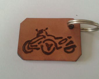 Keychain leather natural persnalise