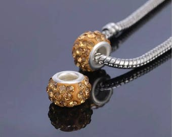 round Pearl Murano yellow dimension approximately 12x7mm