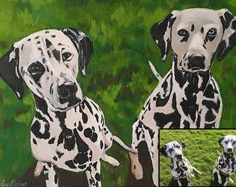 Custom Pet Portrait, Dog Lover Gift, Pet Lover Gift, Custom Pet Painting, Pet Canvas Art, Dog Portrait, Dog Art, Pet Loss Gift