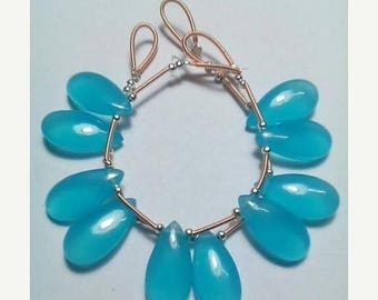 80% OFF SALE 5 Pieces Apatite Pear Shape Smooth Briolette
