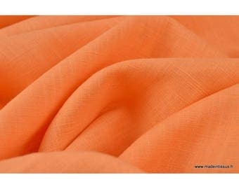 Tissu Lin lavé saumon x50cm