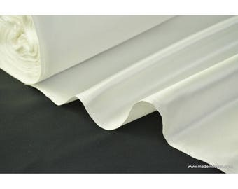 Natural polyester Duchess satin.