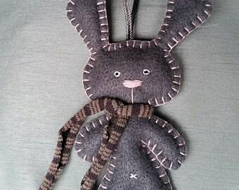Handmade Felt Rabbit Hanging Decoration