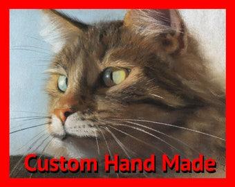 Cat portrait, christmas gifts, custom cat portrait, cat painting, cat memorial, custom cat painting, cat art, cat lover gift, cat drawing