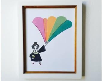 Notorious RBG (Ruth Bader Ginsburg) Art Print