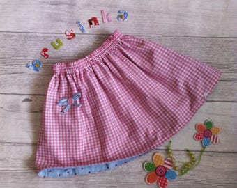 Cute skirt for little girl double-sided portable