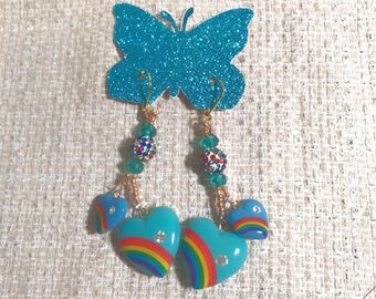 Somewhere over the rainbow earrings