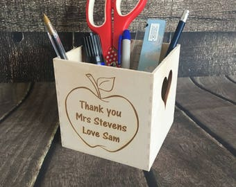 Personalised pen holder / desk tidy / teacher gift