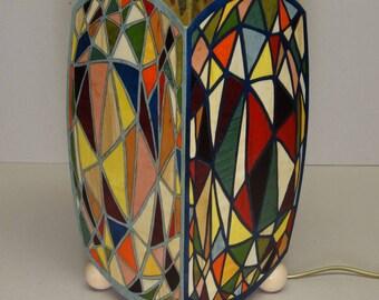 """INLAY lamp of atmosphere """"Morgan"""" veneer wood"""