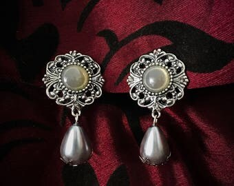 """Dangle earrings unique filigree and model """"Silver marquise"""" drops"""