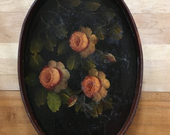 large rose wooden vanity tray