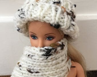 Barbie chunky hat and matching scarf