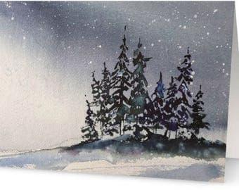 Winter Trees Notecard