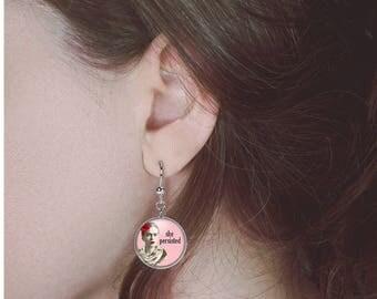 Frida Kahlo Earrings She Persisted Nevertheless She Persisted Jewelry Feminist Earrings
