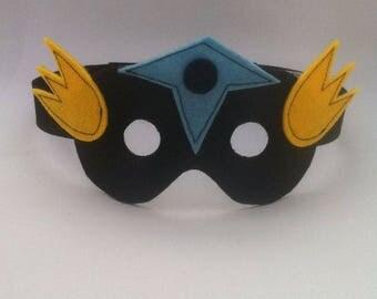 Kids costume accessory - blue and yellow - mask superhero Wonder