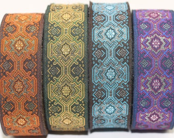 25 mm Vintage ribbon, Jacquard trims (0.98 inches), Decorative Craft Ribbon, Sewing trim, woven trim, embroidered ribbon