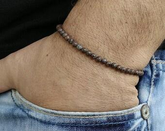 Mens  Bracelet Obsidian Matte Men Bracelete bracelet perle homme Beaded Men Bracelet Mens Beaded Bracelet Men's Bracelets Beaded Men 4mm