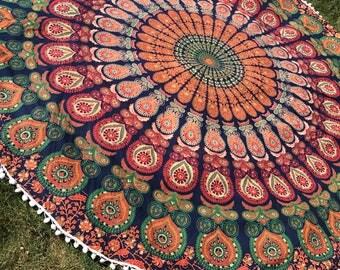 Dorm Room Tapestry. Graduation Gift. Indian Mandala Tapestry. Summer Table  Cloth. Beach Part 87