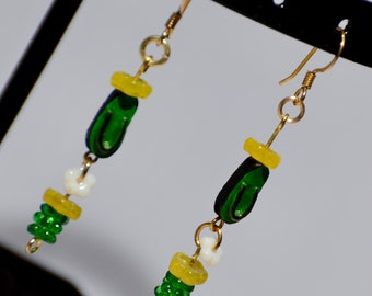 Flip flop earrings (green)