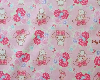 New!! 1/2 yard Sanrio Very Cute My Melody Cotton Fabric PINK