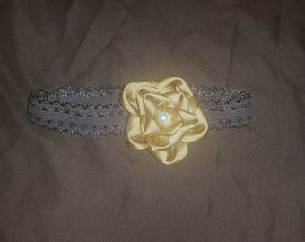 Gold and brown headband