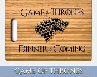 Game of Thrones Cutting Board - 100% Made in America - SUPERIOR Quality Bamboo