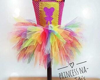 LoL Surprise Doll - L.O.L.  Dress - Girl Tutu Dress - Christmas Outfit - Rainbow Dress - Princess Dress - L.O.L.  Big Sister - Party Dress