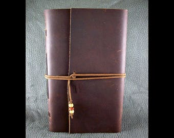 Large Leather Journal or Sketchbook - Tobacco Brown