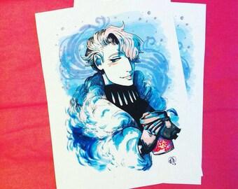 Snowy Victor (YOI) - Matte print