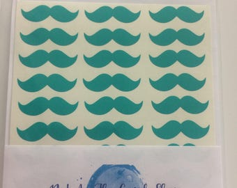 Moustache, vinyl decal, craft sticker, kids craft, invitations