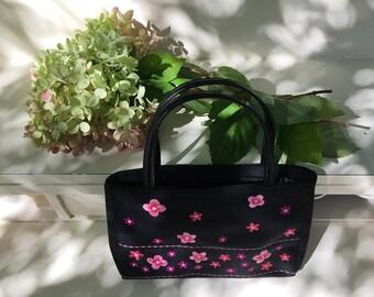 Vintage Esprit purse with pink flowers