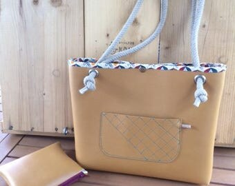 OCRE Leather Handbag and Strings