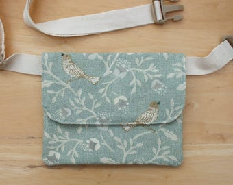 Morris Bird Belt Bag, Hip Purse, Bum Bag, Waist Bag, Money Belt, Flat Fanny Pack or Travel Wallet