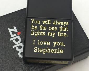 LONG DESCRIPTIONS Black  Matte zippo Lighter