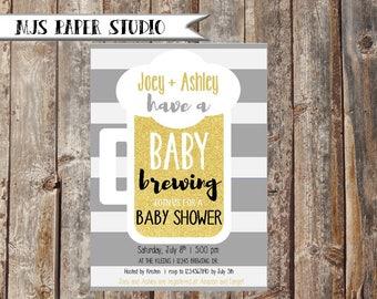 Baby Brewing Invitation