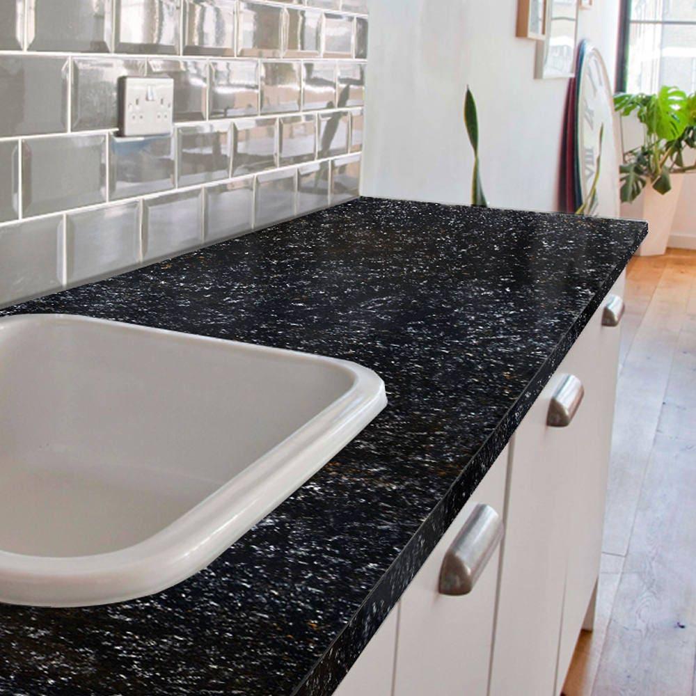 Painting Kitchen Countertops: Giani Bombay Black Countertop Paint Kit