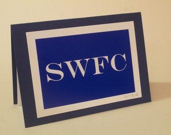 An original SWFC photo-art Greetings card