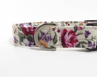 Traditional Floral Dog Collar | Floral Dog Collar | Girl Dog Collar | Puppy Collar | Dog Collar | Rose Dog Collar | Small Dog Collar | Dog