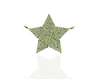14YC124 - 14K Yellow gold diamond Star