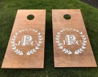 Custom Corn Hole Boards, Custom Wedding Cornhole Boards, CornHole Boards, Corn Toss Boards, Wedding Corntoss, Optional LED Lights